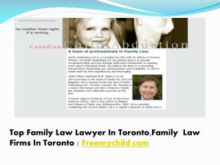 Top Family Law Lawyer In Toronto,Family Law Firms In Toronto : Freemychild.com