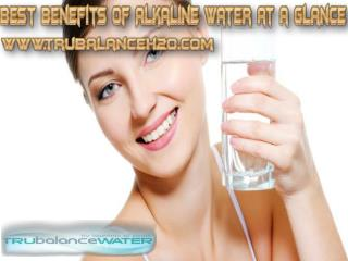 Best Benefits of Alkaline Water at a Glance