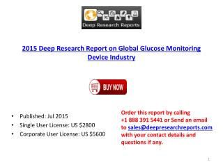 Analysis on Global Glucose Monitoring Device Market Research 2015