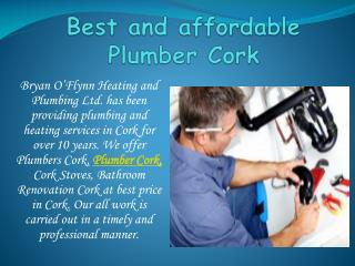 Best and affordable Plumber Cork