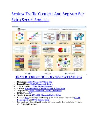 Detail infor review and of Traffic Connect  and exclusive bonus bundle