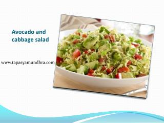 Avocado and cabbage salad