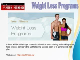Weight Loss Programs and Workout Routine