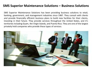 SMS Superior Maintenance Solutions – Business Solutions