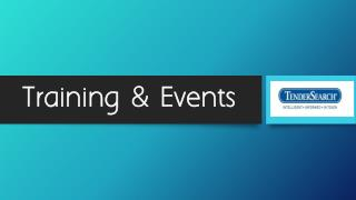 TenderSearch - Training & Events