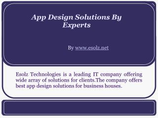 App Design Services By App Designing Company