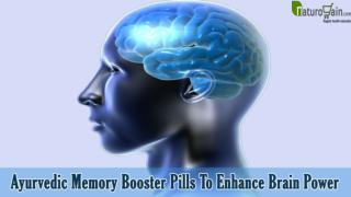 Ayurvedic Memory Booster Pills, Herbal Brain Power Enhancer Supplements