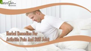 Ayurvedic Herbal Remedies For Arthritis Pain, Natural Pills For Stiff Joint