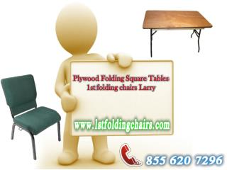 Plywood Folding Square Tables - 1st folding chairs Larry