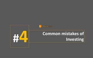 4 COMMON MISTAKES OF INVESTING