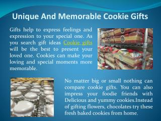 Unique And Memorable Cookie Gifts