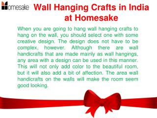 Wall Hanging Crafts | Wall Hangings Online Shopping India – Homesake