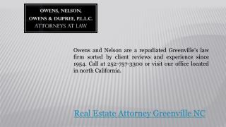 Greenville NC Real Estate Attorney