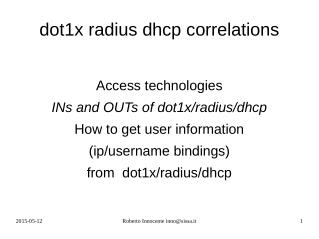 radius dhcp and dhcp snooping