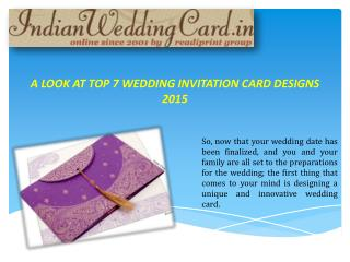 Wedding Invitation card Designs 2015