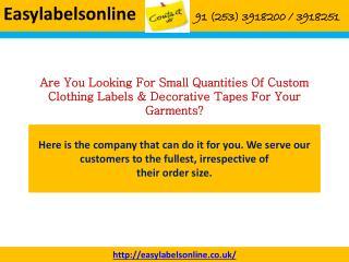 Clothes Labels- Easy Labels Online