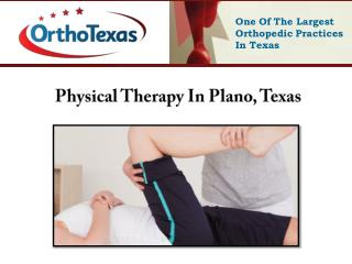 Physical Therapy In Plano, Texas