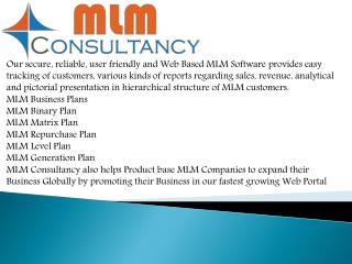 MLM Binary software in india(MLM Consultancy.Co.In)