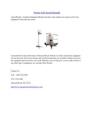 Power Lift-Aerial Rentals