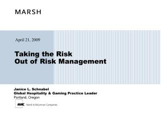 Taking the Risk  Out of Risk Management