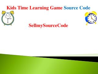 Kids Time Learning Kids Game - Android Source Code