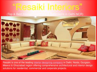 Top & Best Interior Designers & Decorators in Delhi NCR