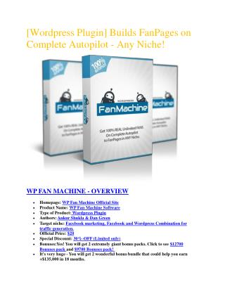 Special review and Discount of WP Fan Machine