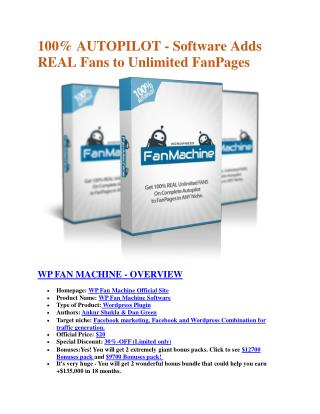 WP Fan Machine particular review and ultimate bonuses package