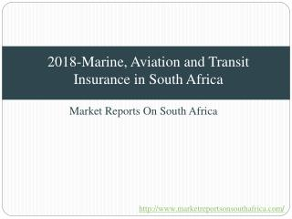 2018-Marine, Aviation and Transit Insurance in South Africa