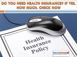 Compare health insurance policy online