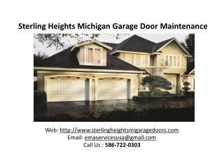 Sterling Heights Michigan Garage Door Maintenance