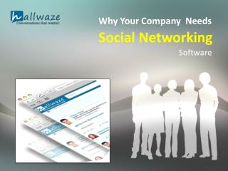 Why Your Company Needs Social Networking Software