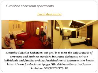 RhodeHouse Furnished suites