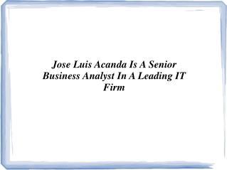 Jose Luis Acanda