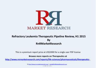Refractory Leukemia Therapeutic Pipeline Review, H1 2015