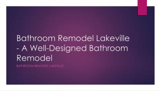 Lakeville bathroom remodel