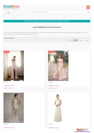 long Lace Wedding Dresses  - GroupDress.com