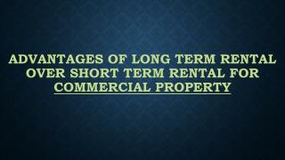 Advantages Of Long Term Rental Over Short Term Rental For Commercial Property