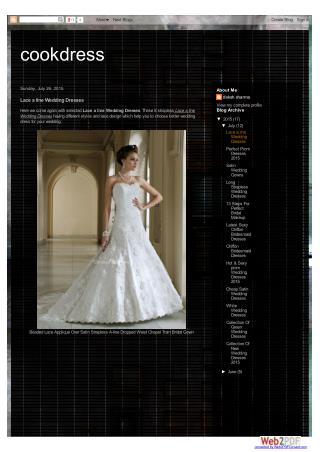 lace a line wedding dresses