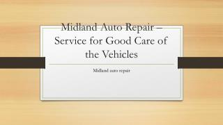 auto repair Midland Texas