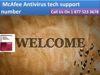 $[1 877 523 3678] McAfee Antivirus tech support number