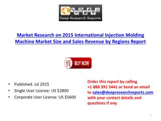 2015 Global Injection Molding Machine Industry Trend Research Report