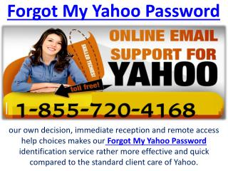 Forgot My Yahoo Password Toll Free Number 1-855-720-4168