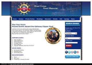 Pittsburgh Corporate and Association Events with Gateway Clipper Fleet