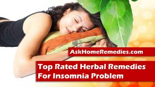 Top Rated Herbal Remedies For Insomnia Problem