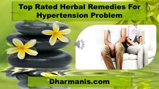 Top Rated Herbal Remedies For Hypertension Problem