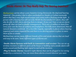 Smoke Alarms: Do They Really Help The Hearing Impaired?