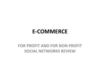 E-Commerce homework answers