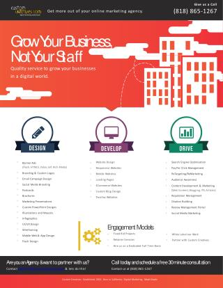 Grow Your Business with Custom Creatives Services