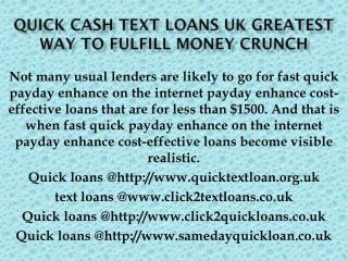 Quick Text Loans For Unemployed UK @http://www.quicktextloan.org.uk